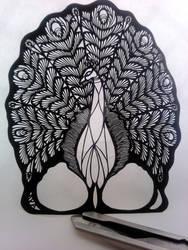Peacock charm 2