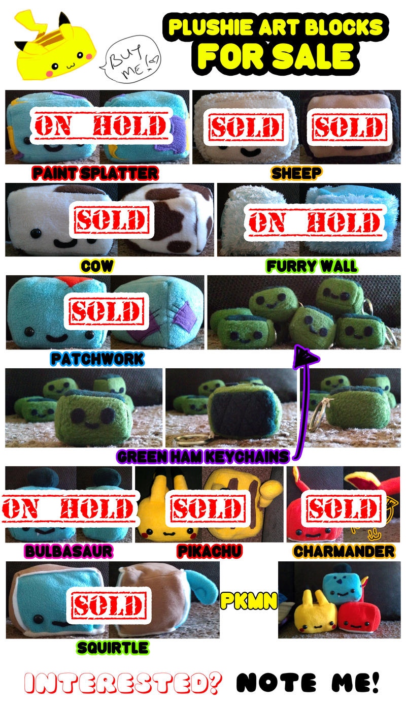 PLUSHIE ART BLOCKS FOR SALE!! by chi-u