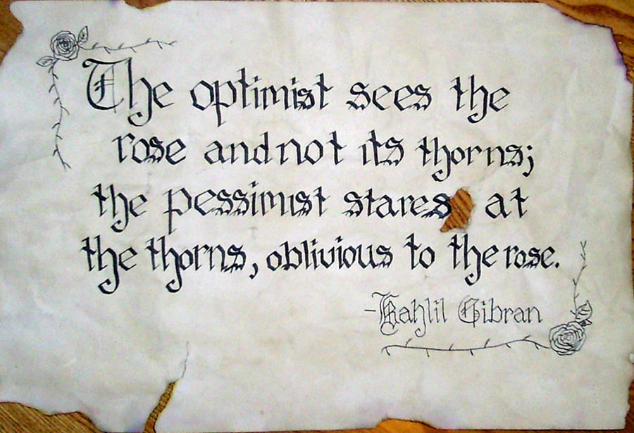 Awesome Optimist And Pessimist Quote By XLindziex ...