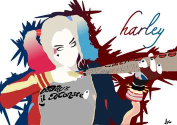 Harley Quinn Minimalist by victorabbe666