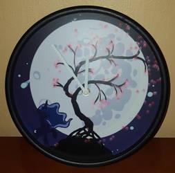 Princess Luna and the Moon (clock) by cedricc666