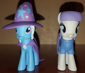 Trixie Lulamoon and Maud Pie figurines by cedricc666