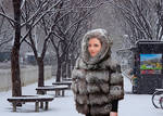 Ashley Marie in fur coat 01