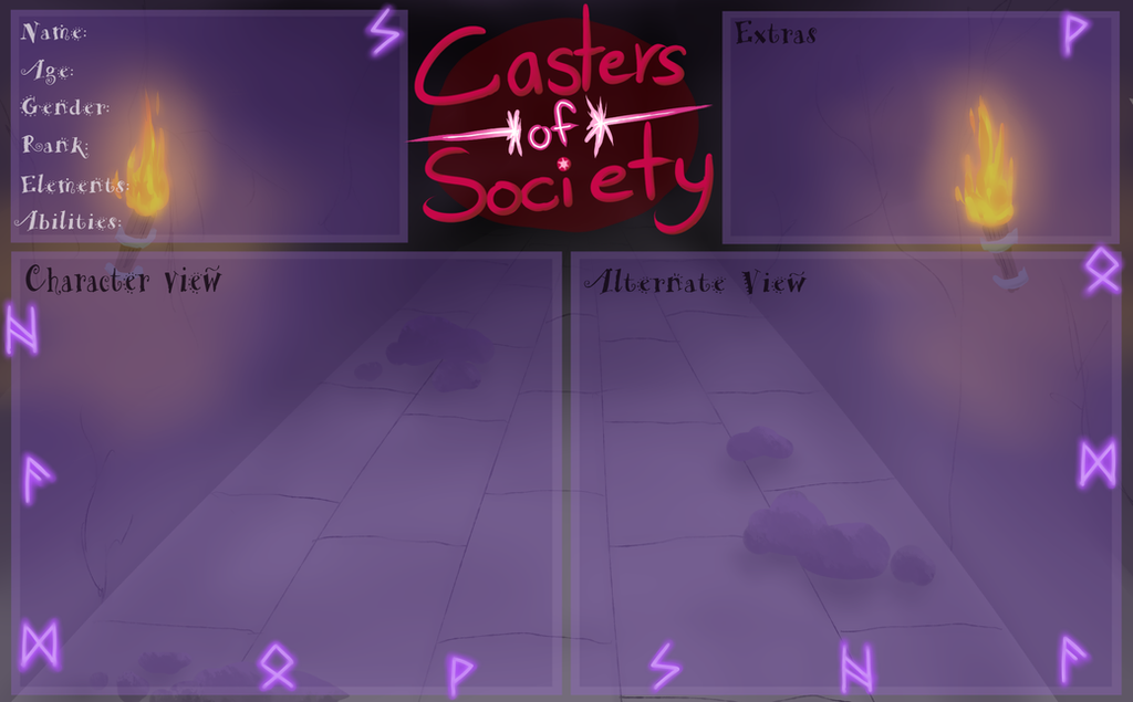 CoS: Shadow Society App Sheet by Sparaze