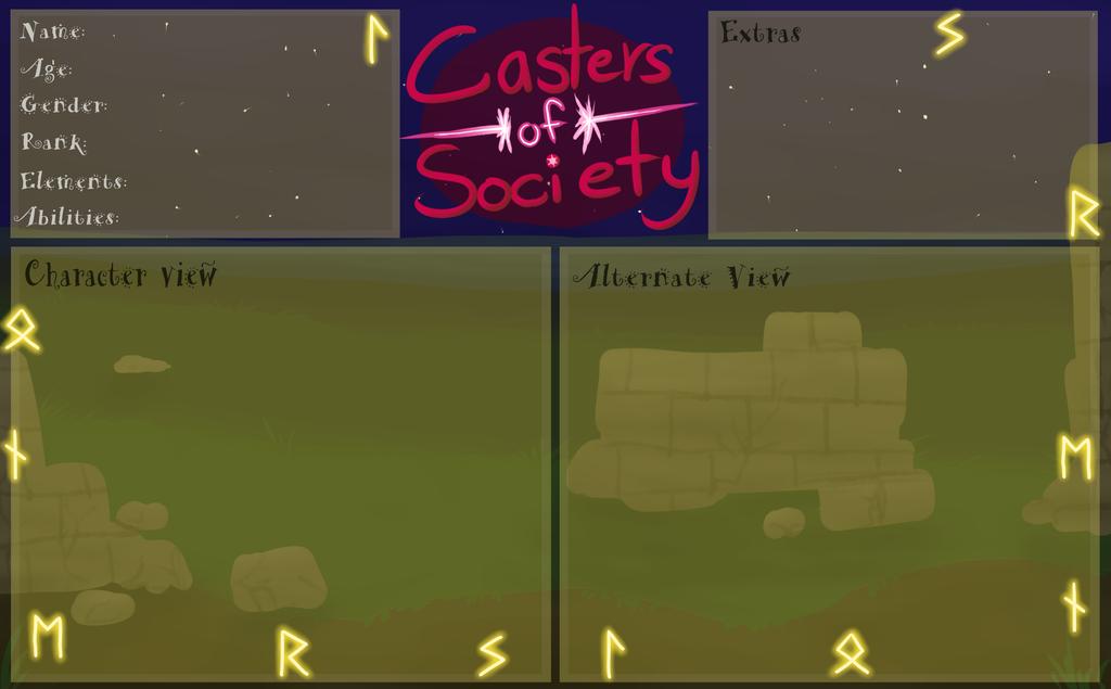 CoS: Loners Society App Sheet by Sparaze