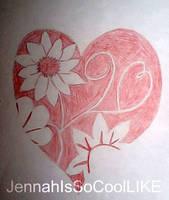 Flowering Heart by JennahIsSoCoolLIKE
