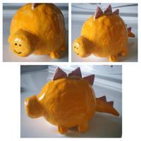 Rawr! - Stegosaurus Piggy Bank by JennahIsSoCoolLIKE