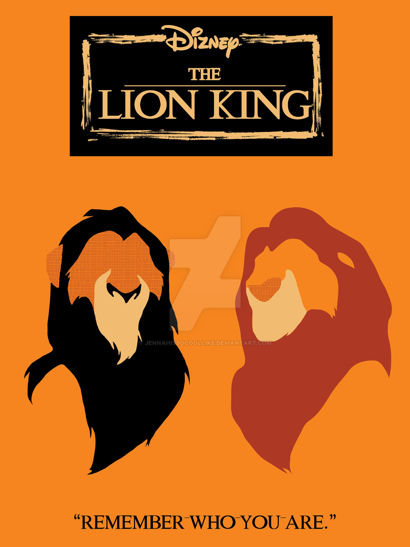 lion king minimalist poster by jennahissocoollike on