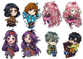 CF2014 : Chibies Bookmarks coloured