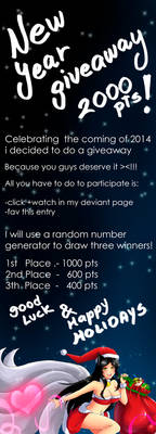 New Year Giveaway 2013
