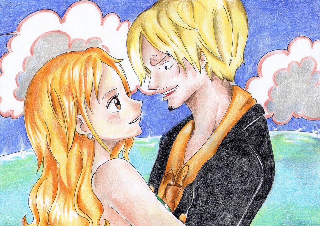 Sanji and Nami by PrincessPokemon