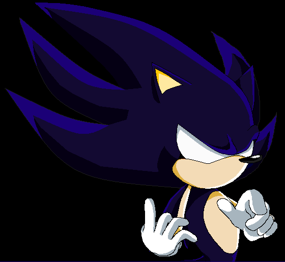 Dark Super Sonic The Hedgehog By Supermysticsonic On Deviantart