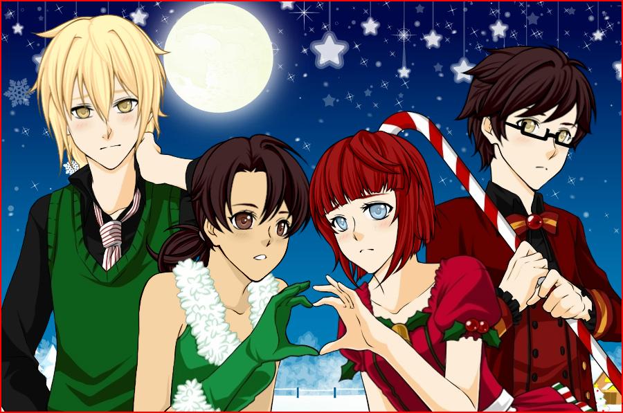 Elias, Chise, Xander, and Talim by Furrywolf79