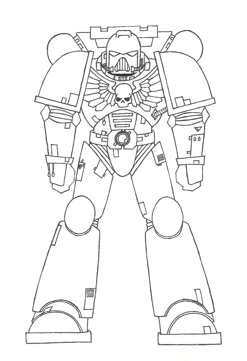 space marine coloring pages sketch coloring page
