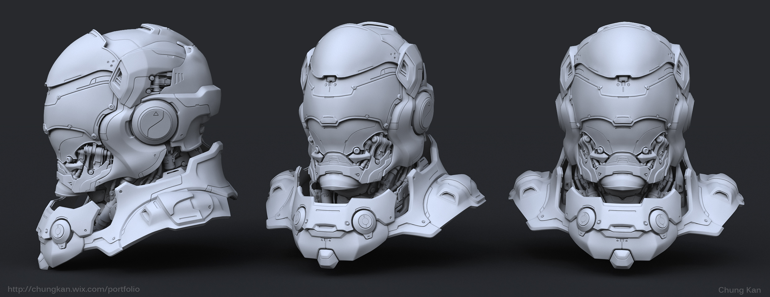 Hard surface 3d modeling for production by chungkan3d on for Hard surface garden designs