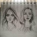 Sketchy portraits