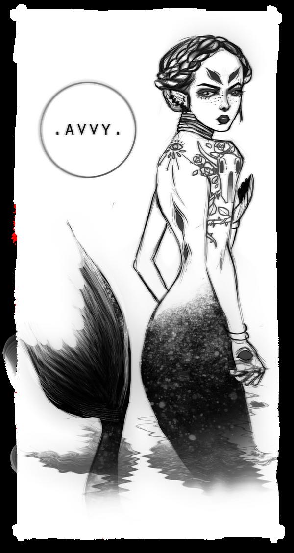 Black sea mermaid by Avvyraptor