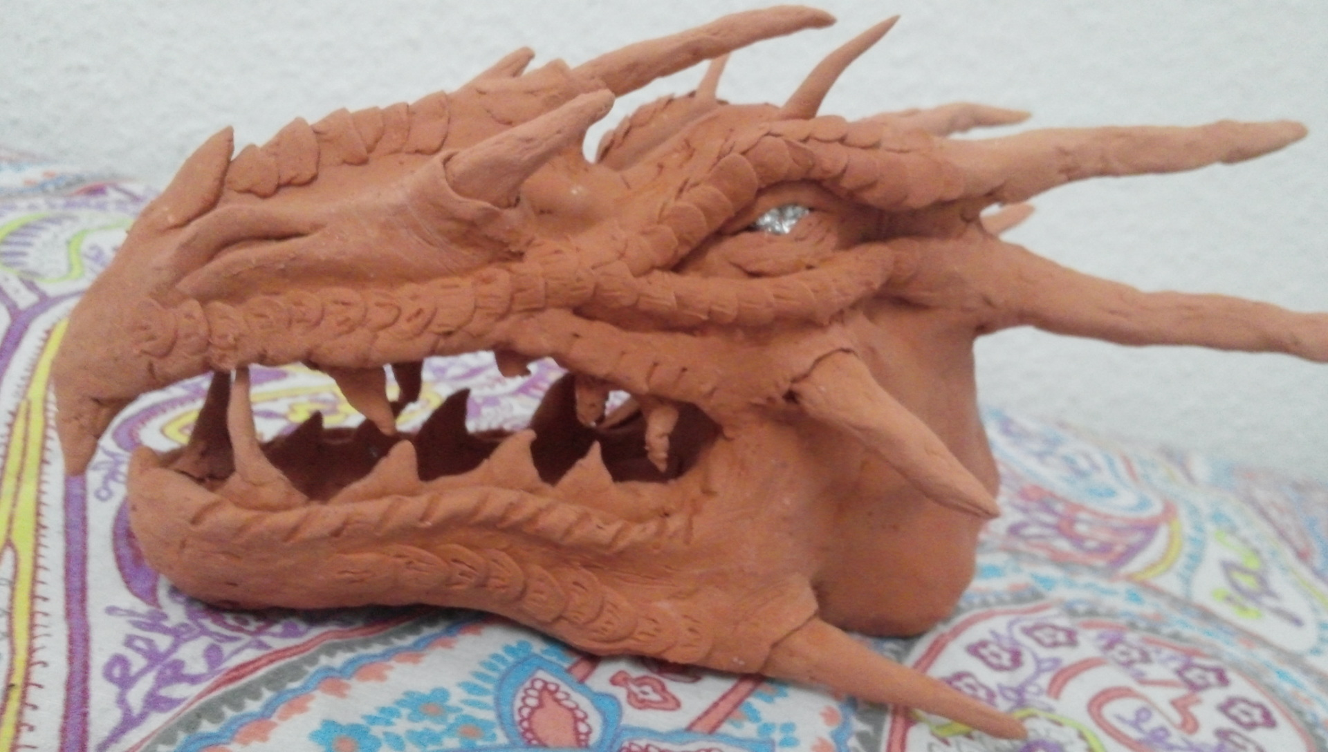 Clay Dragon Head Dragon Head Clay And Tin Foil By Serioussam