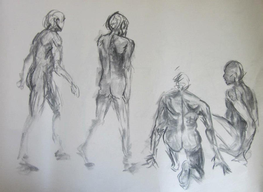 Line Art Figures : Gesture figure drawing male by annathomas on deviantart