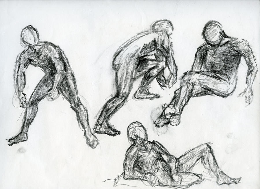 It is a graphic of Gratifying Figure Drawing Male
