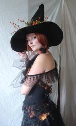 Autumn Witch Portrait 2 by mizzd-stock