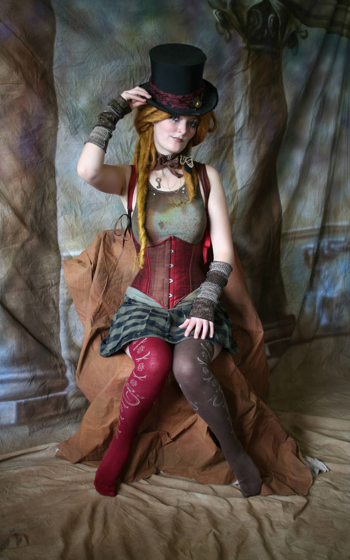 Steampunk Circus Doll 3 by mizzd-stock