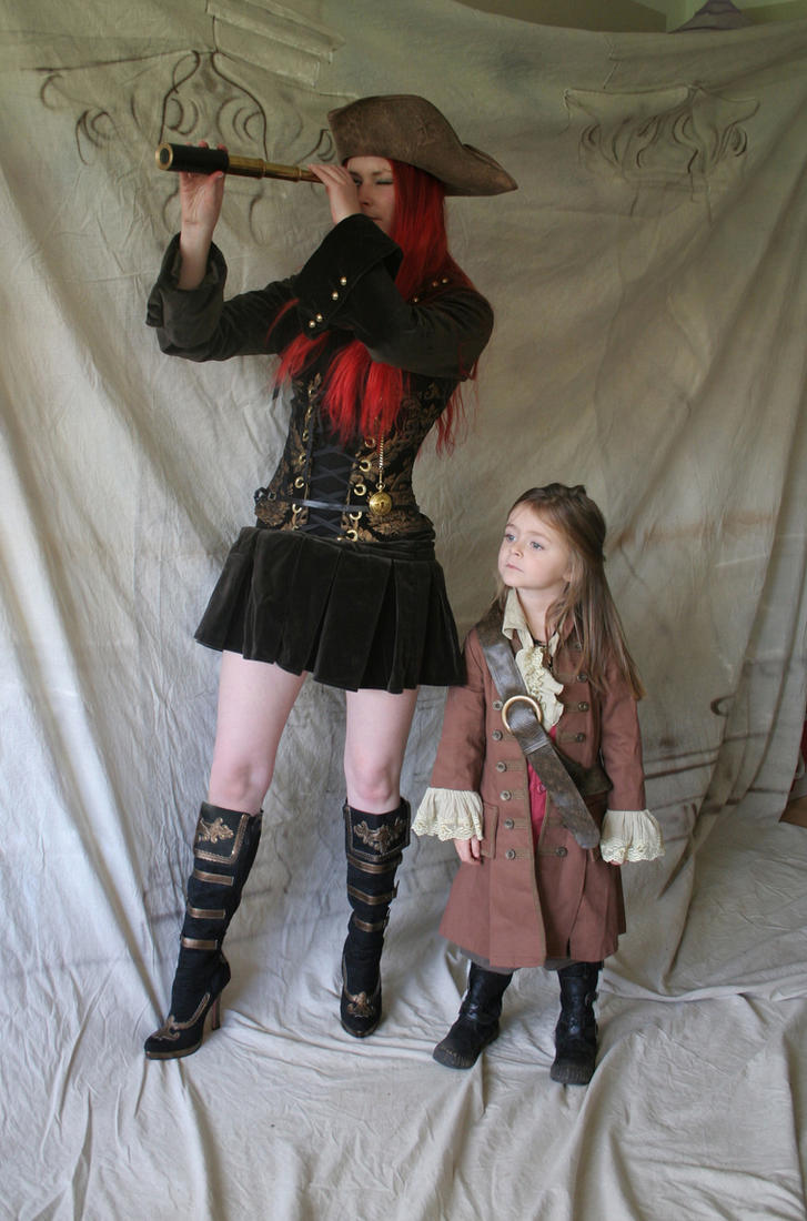 Pirate captain and Child 1 by mizzd-stock