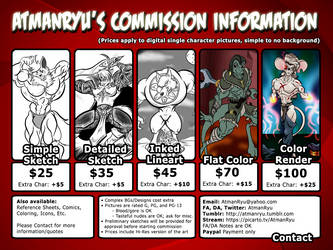 Commission Price Guide by atmanryu