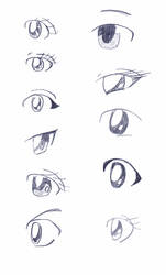 Anime eyes by the-blue-fish
