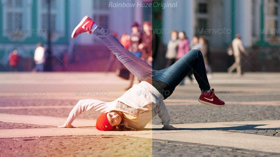 8 Professional Photoshop Actions  - Rainbow Haze by mudgalbharat