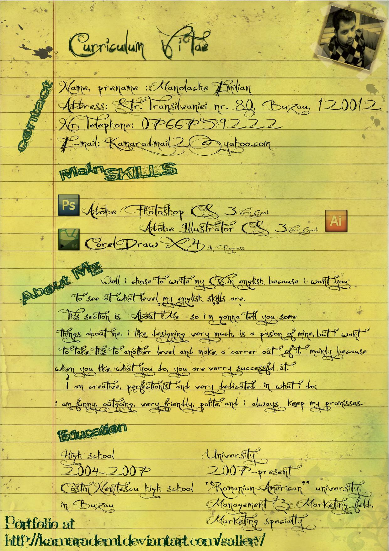 CV by kamarademl