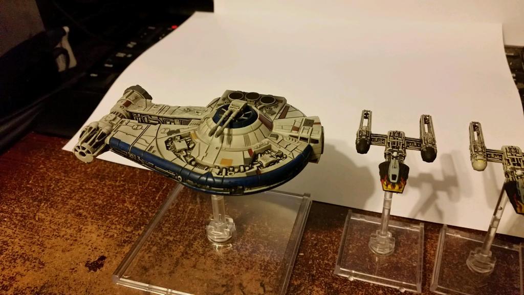 X Wing Star Ship edits YT-2400 focus by Ryuondo