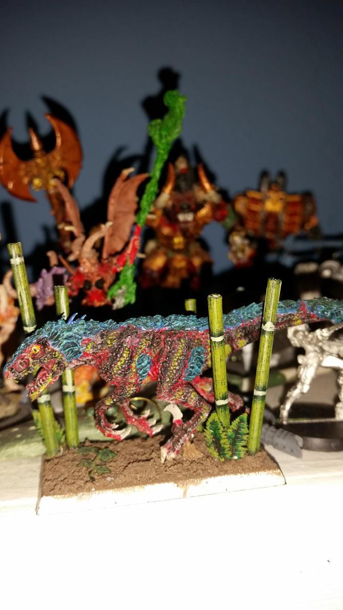 Deathtrap the Abyssal Battle Deinonychus 2 by Ryuondo