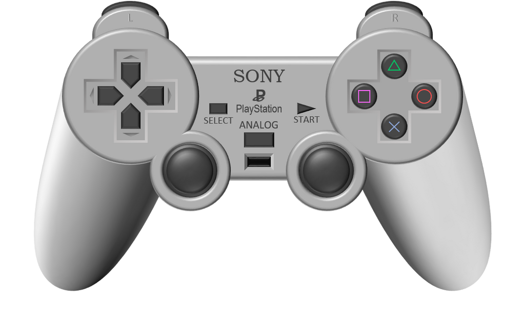 PlayStation DualShock 1 controller by Tangentg on DeviantArt