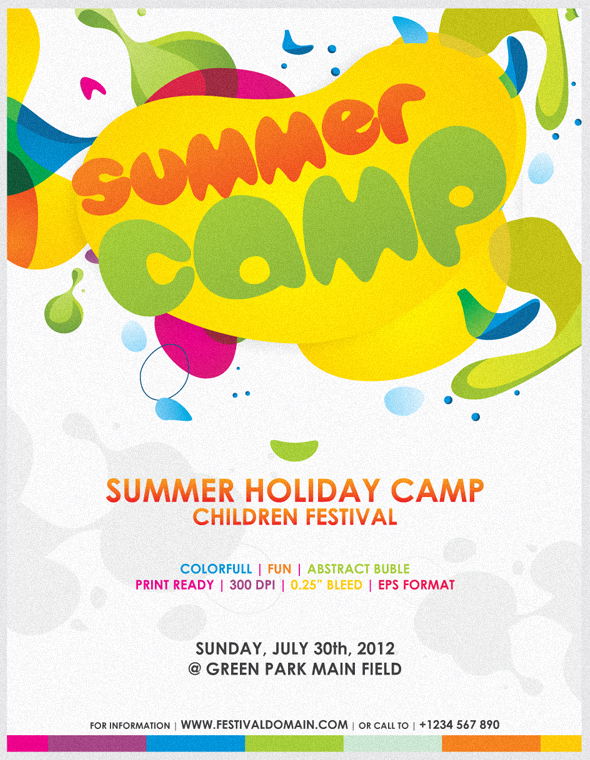 colorfull summer camp fest flyer by firmansuciananda on deviantart. Black Bedroom Furniture Sets. Home Design Ideas
