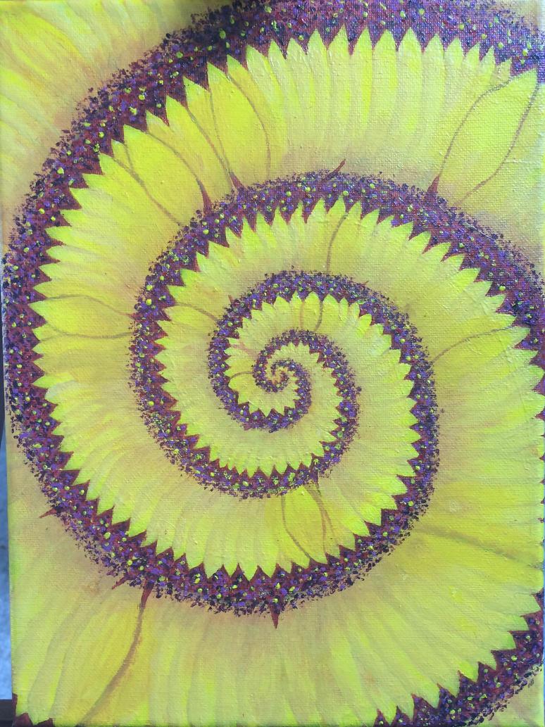 Spiral sunflower by LaurenFunn