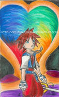 Sora in Hollow Bastion by RevanRayWan