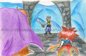 Sora in Hollow Bastion -Apathy by RevanRayWan