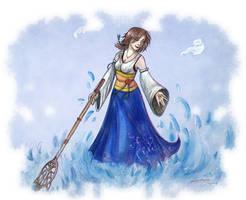 FFX Yuna The summoner by RevanRayWan