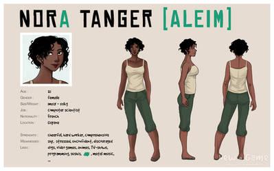 [NG] Character sheet : Nora Tanger  [Aleim]