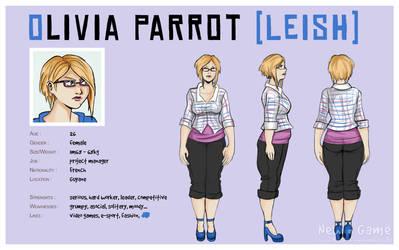 [NG] Character sheet : Olivia Parrot [Leish]