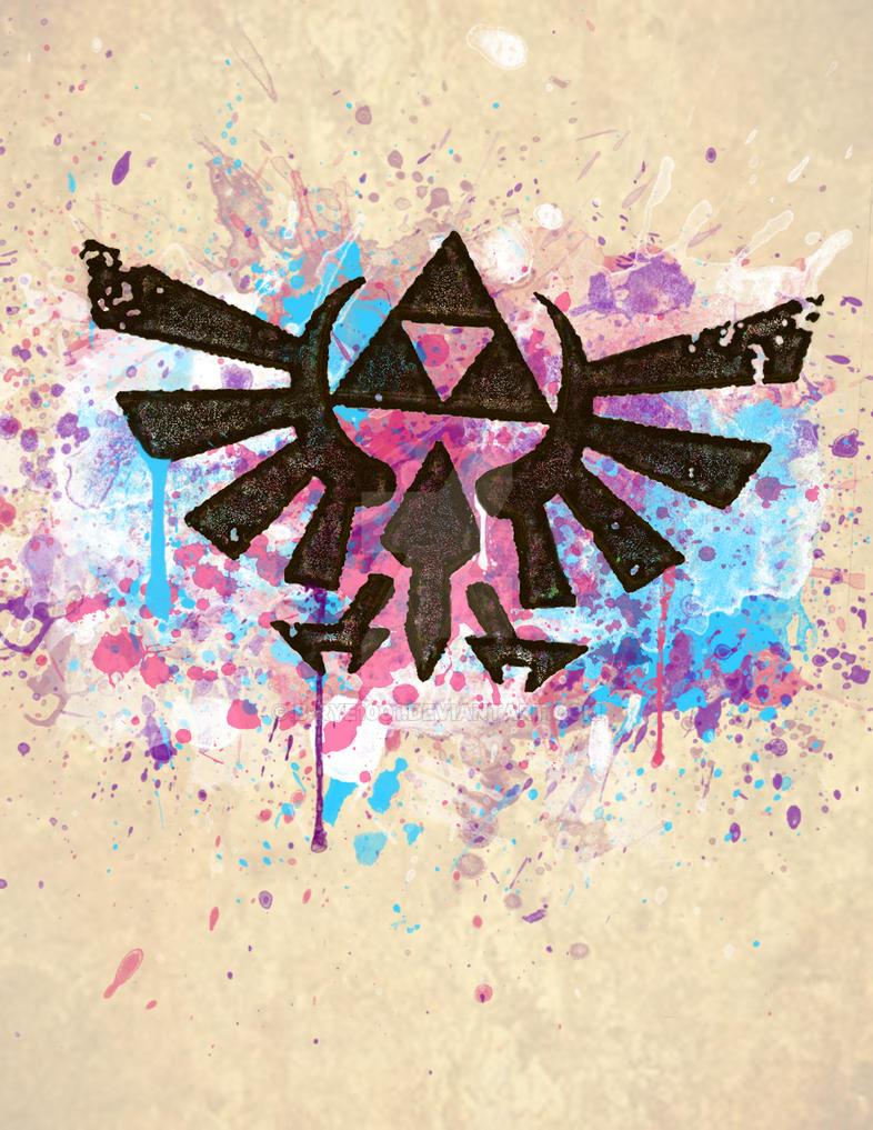 Splash Triforce Emblem by B-Rye1001