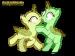 Mlp pony Base 25 | 2 ponies