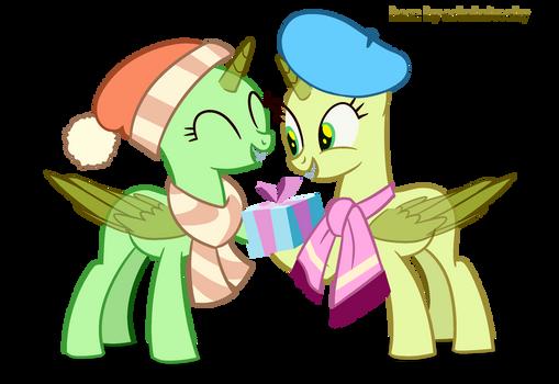 Mlp Base 34 | Couple | Merry Christmas! by ashakalovsky