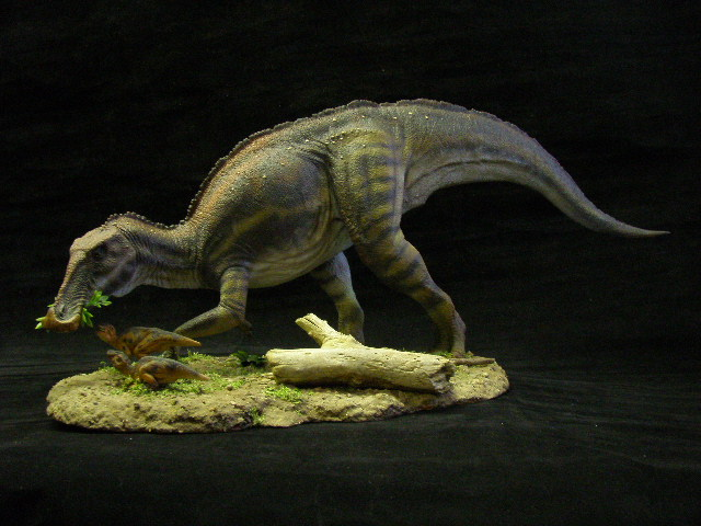 Anatotitan with young by Baryonyx-walkeri