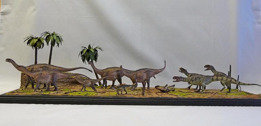 Dinosaur Diorama by Baryonyx-walkeri