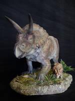 Torosaurus and Baby by Baryonyx-walkeri
