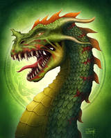 Zombie Dragon by Anant-art