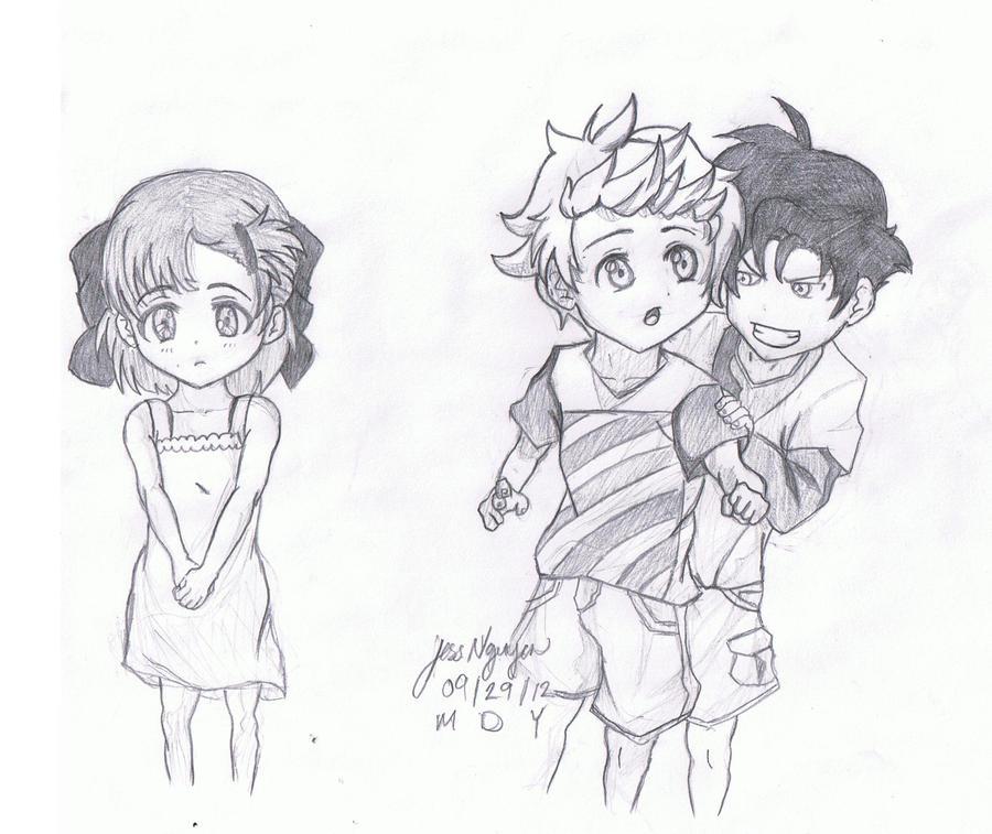 Anime Kids in Love Drawings Anime Kids in Love Kids in