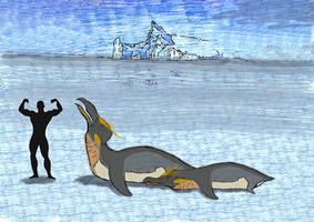 Giant Penguin from Antarctica ! by kamarodu21